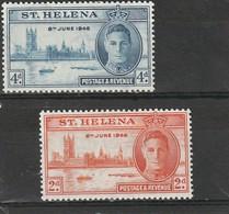 Sainte Hélène  Neuf * 1946  N° 110/111  Anniversaire De La Victoire - Sainte-Hélène