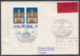 Mi-Nr. 2113, Waag. ER- Paar Mit Druckvermerk Als MeF Auf Eilboten Mit Ankunft - Briefe U. Dokumente
