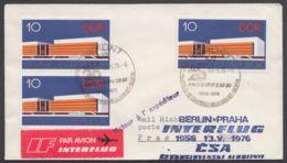 Mi-Nr. 2121, MeF Mit 3 Werten Auf Luftpost Nach Prag Mit Ankunft - DDR
