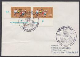 Mi-Nr. 2242, Waag. ER- Paar Mit Druckvermerk - Briefe U. Dokumente