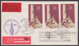 Mi-Nr. 2262, MeF Mit 3 Werten Auf Eilboten/Luftpost Nach Libyen Mit Ankunft - DDR