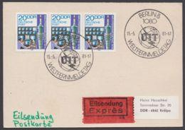 Mi-Nr. 2317, Portogerechte MeF Mit 3 Werten Auf Eilbotenkarte Mit Ankunft - Briefe U. Dokumente