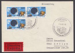 Mi-Nr. 2368, Portogerechte MeF Mit 3 Werten Auf Eilbotenkarte Mit Ankunft - DDR