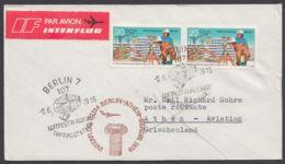 Mi-Nr. 2425, MeF Mit 2 Werten Auf Luftpost Nach Griechenland, Ankunft - DDR