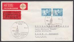 Mi-Nr. 2506, MeF Mit 2 Werten Auf Eilboten/Luftpost- Drucksache Nach Kiew Mit Ankunft, 1980 - DDR