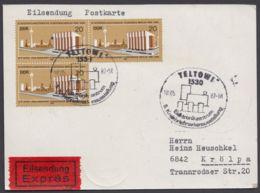Mi-Nr. 2542, Portogerechte MeF Mit 3 Werten Auf Eilbotenkarte Mit Ankunft - DDR