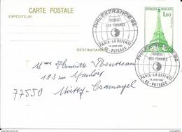 ENTIER POSTAL N° 429 CP1 -  PHILATEX FRANCE 92  - BOURSE AUX TIMBRE PARIS LA DEFENSE 1982 - Enteros Postales