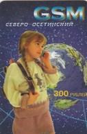 North Osetia - Girl - Telefoonkaarten