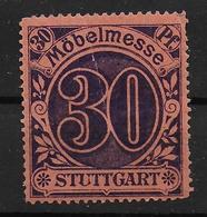 Württemberg Stuttgart Möbelmesse Revenue Stempelmarke - Wurttemberg