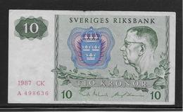 Suède - 10 Kronor - Pick N°52 - TTB - Schweden
