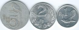 Indonesia - 1970 - 1, 2 & 5 Rupiah (KMs 20-22) - Indonésie
