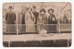Opatija Abbazia Group Of People (family?) On Ship Old Photo - Fotograf. Atelier Betty Abbazia 1912 B190715 - Croatia