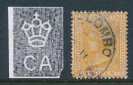CEYLON, 1883 8c Orange-yellow Very Fine, SG152, Cat £14 - Ceylon (...-1947)