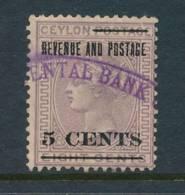 CEYLON, Firm Chop ORIENTAL BANK - Ceylon (...-1947)