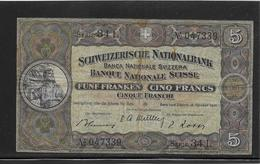 Suisse - 5 Francs 1947 - Pick N°11m - TB - Suisse