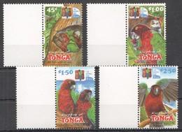V557 KINGDOM OF TONGA FAUNA BIRDS PARROTS 1SET MNH - Perroquets & Tropicaux