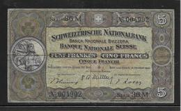 Suisse - 5 Francs 1947 - Pick N°11m - TB - Zwitserland