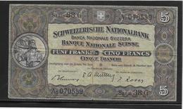 Suisse - 5 Francs 1947 - Pick N°11m - TB - Suiza