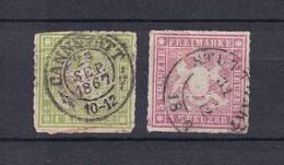 Wuerttemberg - 1865 - Michel Nr. 30/31 - Wuerttemberg