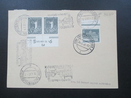 BRD 1957 Nr. 226 Waag. Paar Unterran Mit Druckerzeichen DZ Ld Auf PK Sauber Gestempelt KW 260€ RRR - BRD