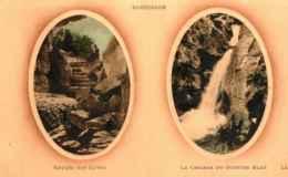 38 - SASSENAGE - Entrée Des Cuves - La Cascade Du Gouffre Bleu  ** 2 Médaillons En Relief ** - Sassenage