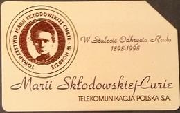 Telefonkarte Polen - Marie Curie - Poland