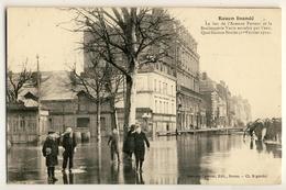 Rouen Inondé - Bas De L'Avenue Pasteur 1er Février 1910 - Rouen
