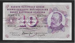 Suisse - 10 Francs - Pick N°45u - TTB - Zwitserland