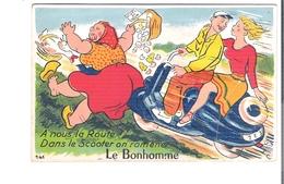 D 67. CARTE à SYSTEME  Le Bonhomme - Cartoline Con Meccanismi
