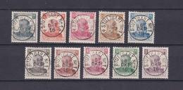 Wuerttemberg - Dienstmarken - 1916 - Michel Nr. 241/250 - Wuerttemberg