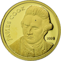 Monnaie, Îles Cook, Capt. James Cook, 10 Dollars, 2008, Franklin Mint, Proof - Cook
