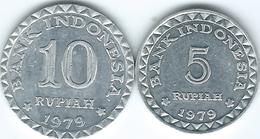 Indonesia - 1979 - FAO - 5 & 10 Rupiah (KMs 43 & 44) - Indonésie