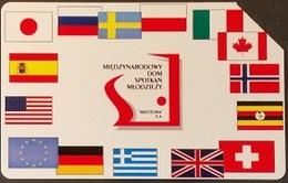 Telefonkarte Polen - Fahnen , Flaggen - Poland