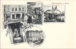 FÜRSTENWALDE Spree Zwischen Müncheberg Beeskow Bodega AW Friedrich Aussenansicht Laden Innen Großer Keller Um 1905 - Muencheberg