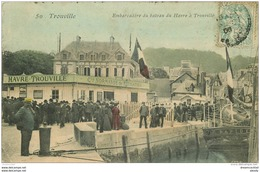 14 TROUVILLE. Compagnie Normande De Navigation à L'Embarcadère Du Havre 1906 - Trouville