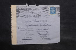 PORTUGAL - Enveloppe De Lisbonne Pour La France En 1943 Avec Contrôles Postaux - L 34534 - 1910-... République