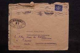 PORTUGAL - Enveloppe De Lisbonne Pour La France En 1943 Avec Contrôles Postaux - L 34535 - 1910-... République