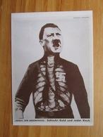 Spottkarte Adolf Der Übermensch Schluckt Gold Und Redet Blech Edition Konsequent Berlin-West - Guerra 1939-45