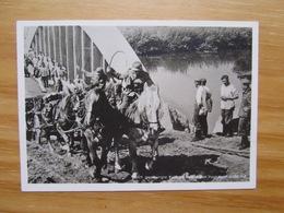 """Wehrmachtskarte """"Auch Gesprengte Brücken Halten Den Vormarsch Nicht Auf"""" Photo Hoffmann SST Danzig 1939 - Oorlog 1939-45"""