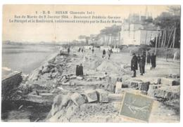 CPA..   ROYAN...RAS DE MAREE DU 9 JANVIER 1924..  BOULEVARD FREDERIC GARNIER..LEGER PLI AU MILIEU. - Royan