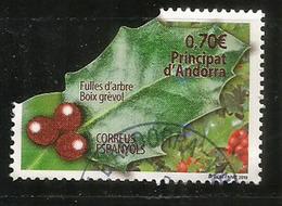 ANDORRA. European Holly.Feuille De Houx.Boix Grévol., Année 2019. Oblitéré, 1 ère Qualité - Used Stamps