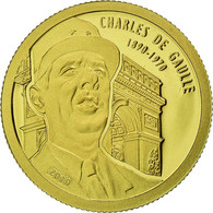 Monnaie, Benin, Charles De Gaulle, 1500 Francs CFA, 2010, Proof, FDC, Or - Benin