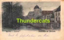 CPA MECHELEN MALINES SOUVENIR DE CARTE COLORISEE NELS SERIE 30 NO  2 NOTRE DAME DE HANSWYCK - Mechelen