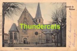 CPA MECHELEN MALINES SOUVENIR DE CARTE COLORISEE NELS SERIE 30 NO  17 L'EGLISE SAINTE CATHERINE - Mechelen