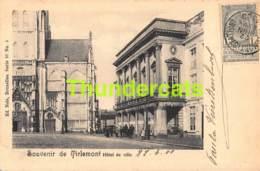 CPA SOUVENIR DE TIRLEMONT HOTEL DE VILLE NELS SERIE 37 NO 5 ( ( PLOOI - PLI ) - Tienen