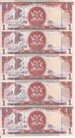 TRINIDAD ET TOBAGO 1 DOLLAR 2006(2017) UNC P 46 C ( 5 Billets ) - Trinidad & Tobago