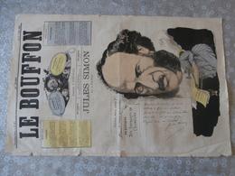 Le Bouffon, Revue Satirique,1867,Jules Simon ,né à Lorient écrivain, Député,franc-maçon, Par Pilotell, Machine à Coudre, - Zeitschriften - Vor 1900