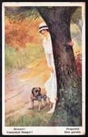 CPA Illustrateur - Bouledogue - Bulldog - Chien -  Dog - Hund -  Circulé - Artistique Series 1679 - War Post 1918 - Chiens