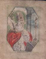 Holy Card S. Fredericus Perkament Parchemin Vélin Pergamena (9 X 11cm) Santini Image Pieuse Religieuse - Santini