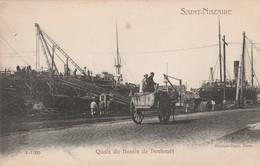 CPA:ATTELAGE QUAI DU BASSIN DE PENHOUËT SAINT NAZAIRE (44) - Saint Nazaire